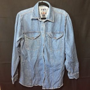 Vintage Harley Davidson Denim Jacket button up
